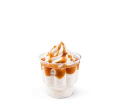 Мороженое с карамельным наполнителем