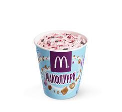 Макфлурри шоколадно-клубничный