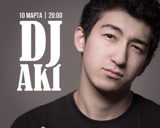 DJ Aki в Cafe Aurora