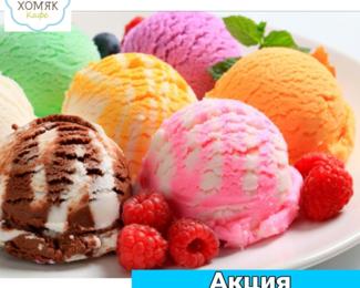 Акция от кафе «Хомяк» для любителей мороженного!