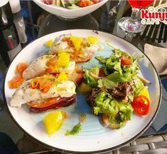 Филе судака с цитрусовой сальсой